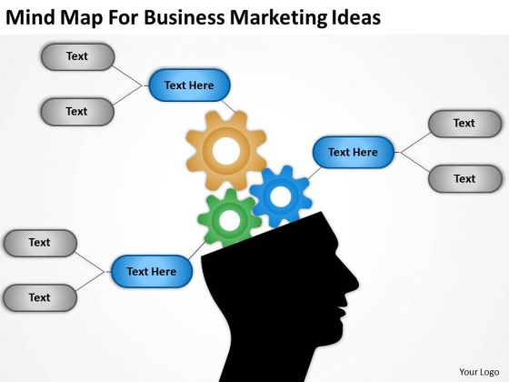 Mind Map For Business Marketing Ideas Ppt What Is Plan PowerPoint Slides