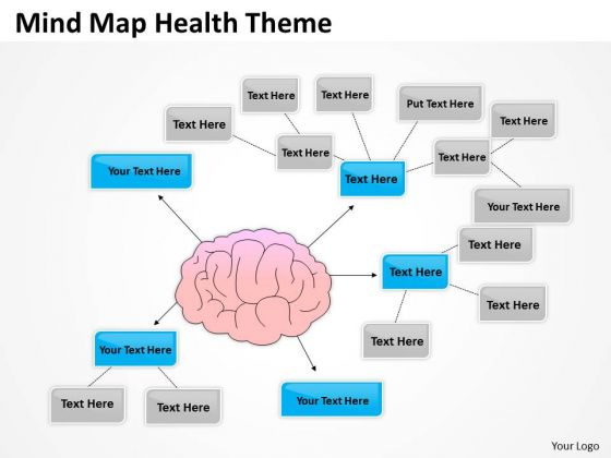 Mind Map Health Theme Ppy Outline For Business Plan PowerPoint Slides