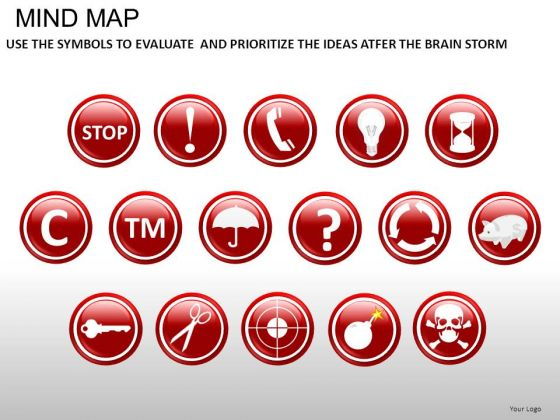 Mind Map Icons PowerPoint Slides And Ppt Diagram Templates