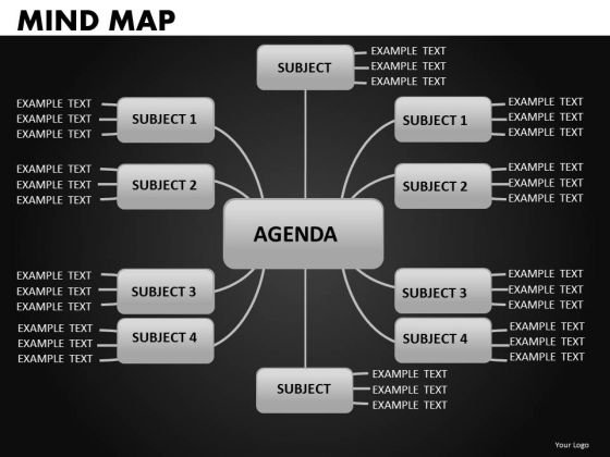 Mind Map Network Diagram PowerPoint Slides Map Nodes Ppt