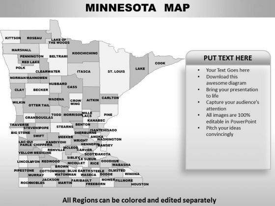 Minnesota PowerPoint Maps
