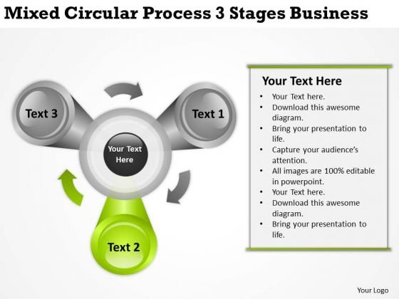 Mixed Circular Process 3 Stages Business Ppt Help Writing Plan PowerPoint Templates