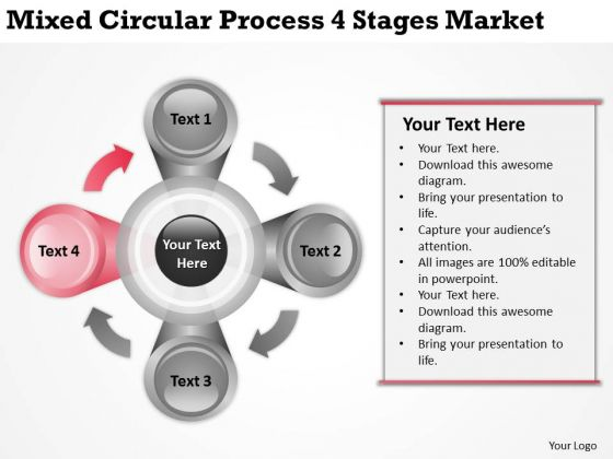 Mixed Circular Process 4 Stages Market Ppt How To Write Business Plans PowerPoint Slides