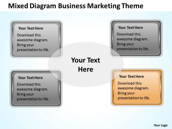 Mixed Diagram Business Marketing Theme Ppt How To Form Plan PowerPoint Templates