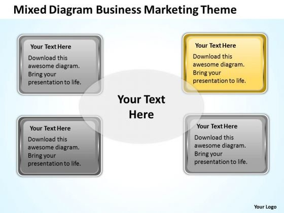 Mixed Diagram Business Marketing Theme Ppt Strategy PowerPoint Slides