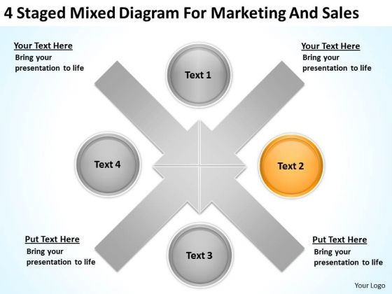 Mixed Diagram For Marketing And Sales Ppt Business Plan PowerPoint Templates