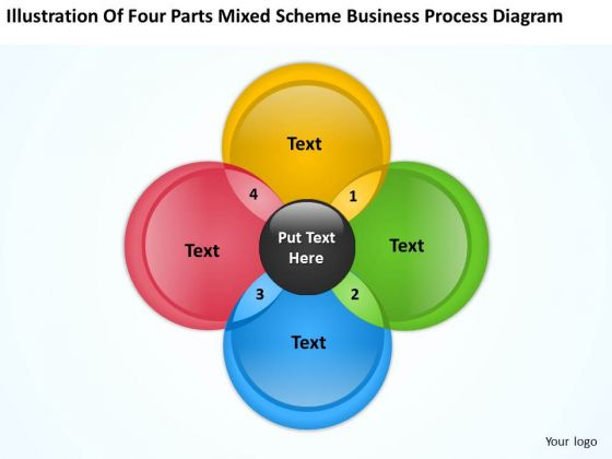 Mixed Scheme Business Process Diagram Creating Plan Step By PowerPoint Templates