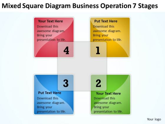 Mixed Square Diagram Business Operation 7 Stages Ppt Quick Plan PowerPoint Slides