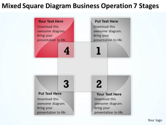 Mixed Square Diagram Business Operation 7 Stages Ppt What Is Plan PowerPoint Templates