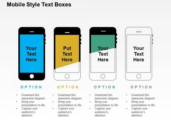 Mobile Style Text Boxes PowerPoint Templates