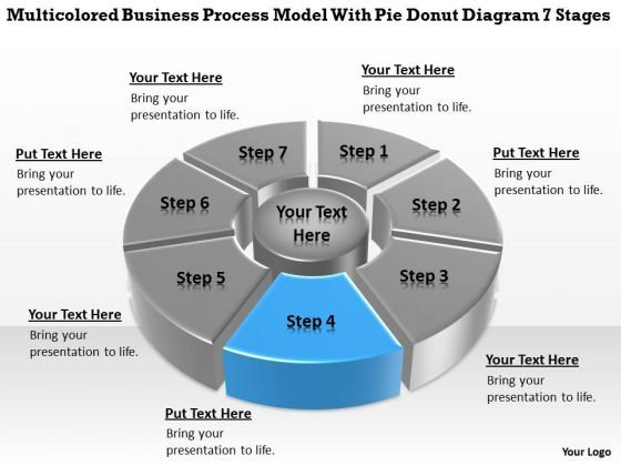 Model With Pie Donut Diagram 7 Stages Top Business Plan PowerPoint Templates