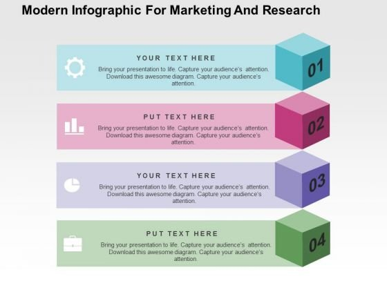 Modern Infographic For Marketing And Research PowerPoint Template