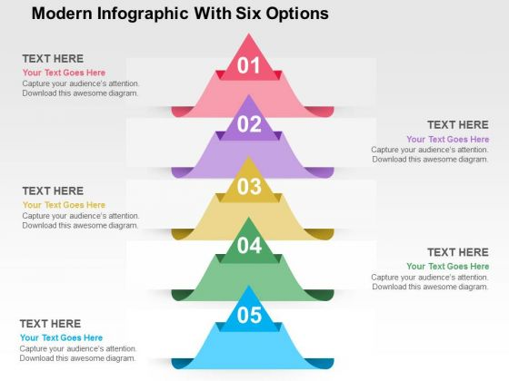 Modern Infographic With Six Options PowerPoint Template