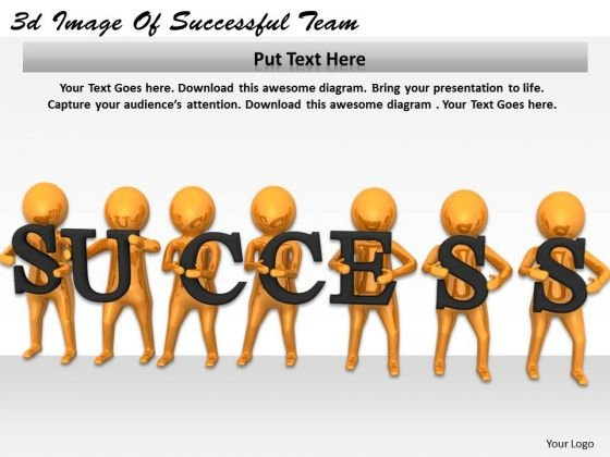 Modern Marketing Concepts 3d Image Of Successful Team Character