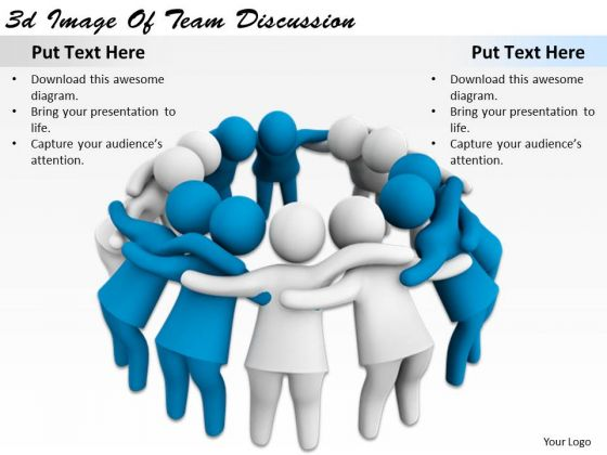 Modern Marketing Concepts 3d Image Of Team Discussion Character