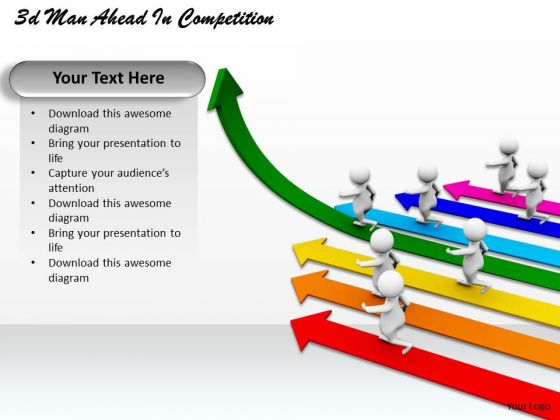 Modern Marketing Concepts 3d Man Ahead Competition Adaptable Business