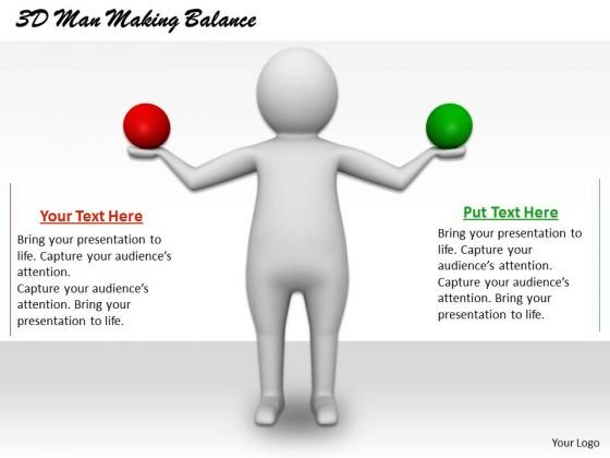 Modern Marketing Concepts 3d Man Making Balance Business Statement