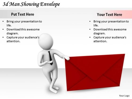 Modern Marketing Concepts 3d Man Showing Envelope Basic Business