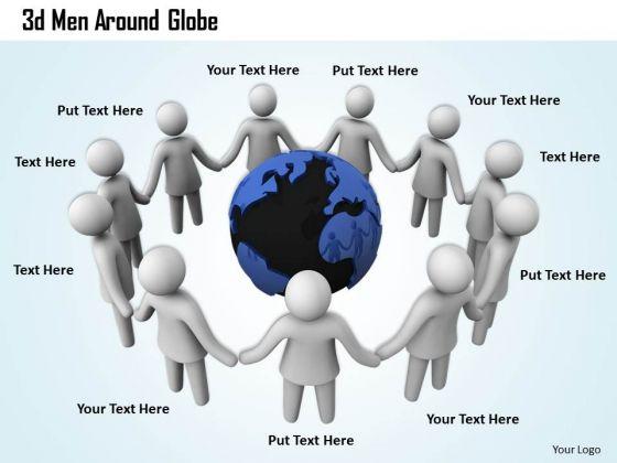 Modern Marketing Concepts 3d Men Around Globe Business
