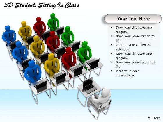 Modern Marketing Concepts 3d Students Sitting Class Business