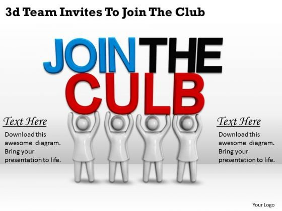 Modern Marketing Concepts 3d Team Invites To Join The Club Characters