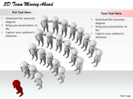 Modern Marketing Concepts 3d Team Moving Ahead Characters