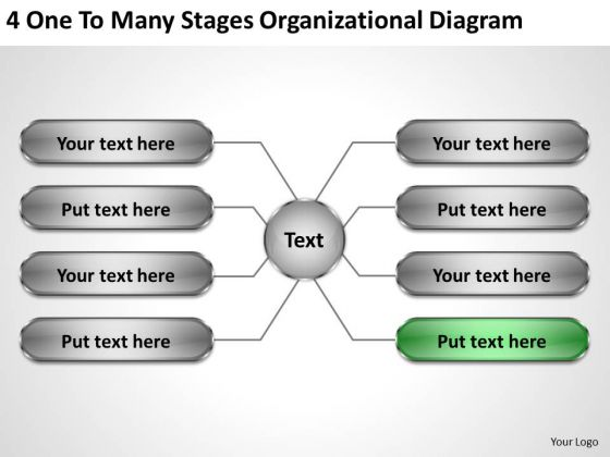 Modern Marketing Concepts 4 One To Many Stages Organizational Diagram Business Unit Strategy