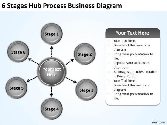 Modern Marketing Concepts 6 Stages Hub Process Business Diagram Strategy Consultants