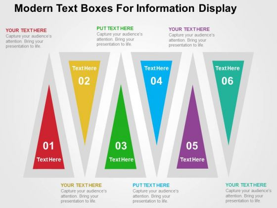 Modern Text Boxes For Information Display PowerPoint Templates