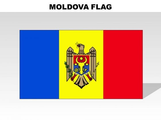 Moldova Country PowerPoint Flags