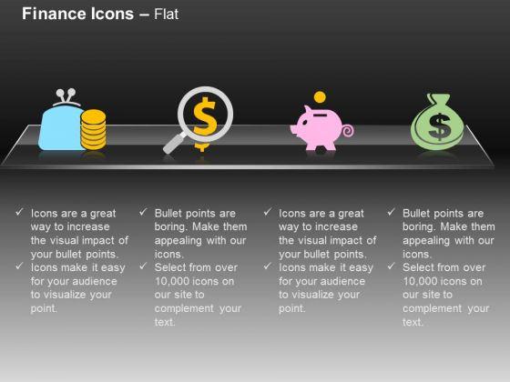 Money Bag Dollar Piggy Pouch Money Saving Ppt Slides Graphics