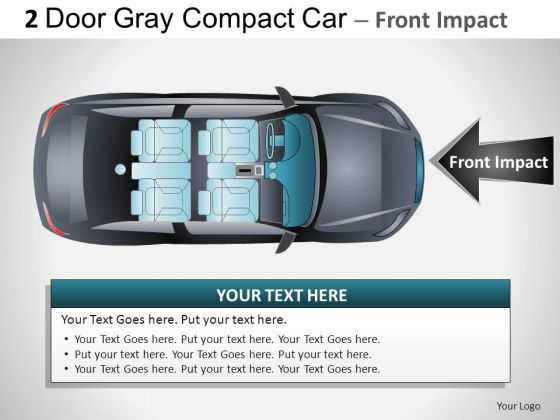 Movement 2 Door Gray Car Top PowerPoint Slides And Ppt Diagram Templates
