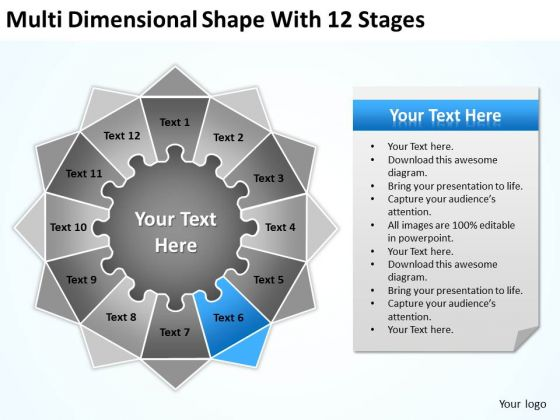multi_dimensional_shape_with_12_stages_ppt_business_plan_outlines_powerpoint_slides_1
