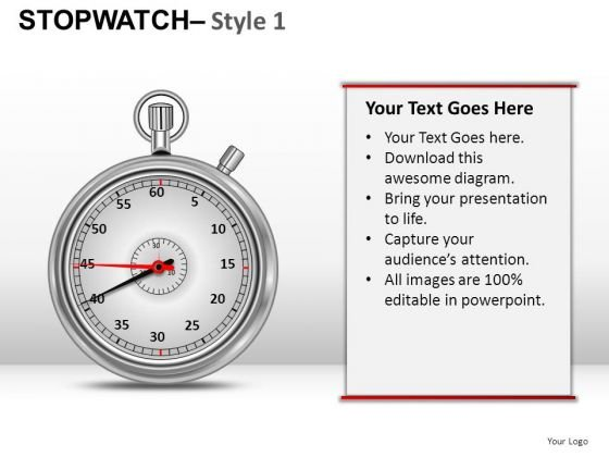 Multicolor Stopwatch 1 PowerPoint Slides And Ppt Diagram Templates