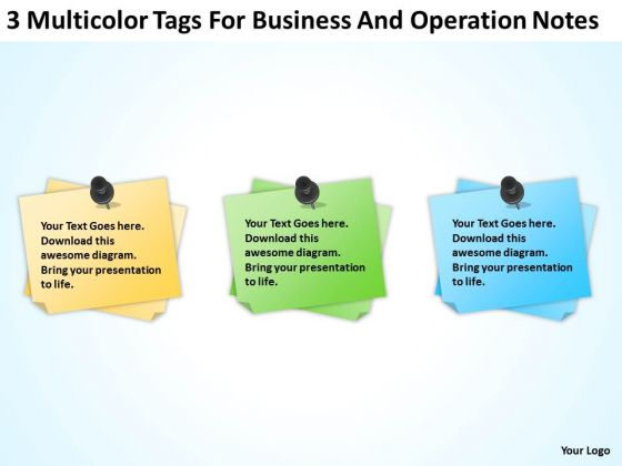 Multicolor Tags For Business And Operation Notes Ppt Plan PowerPoint Templates
