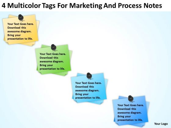 Multicolor Tags For Marketing And Process Notes Ppt Business Plan PowerPoint Templates