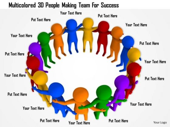 Multicolored 3d People Making Team For Success