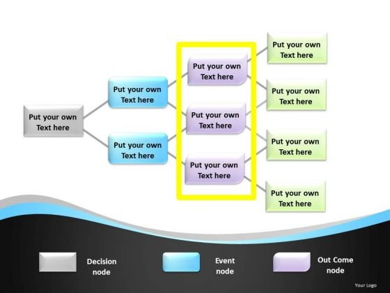 Multiple Decision Nodes Decision Tree Diagram For PowerPoint Slides