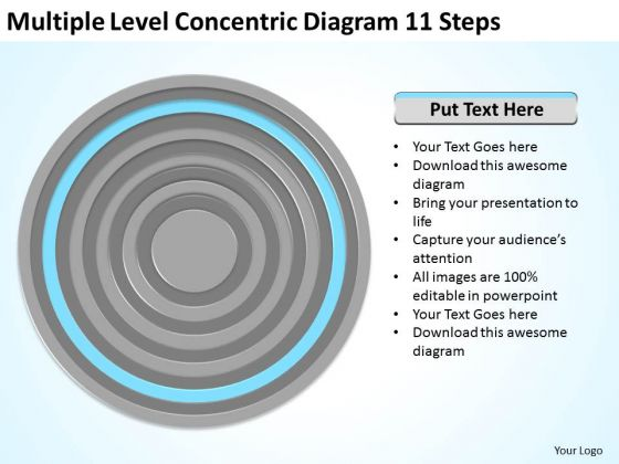 Multiple Level Concentric Diagram 11 Steps Ppt Simple Business Plans PowerPoint Slides