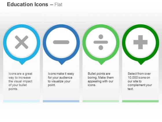 Multiplication Minus Division Plus Ppt Slides Graphics
