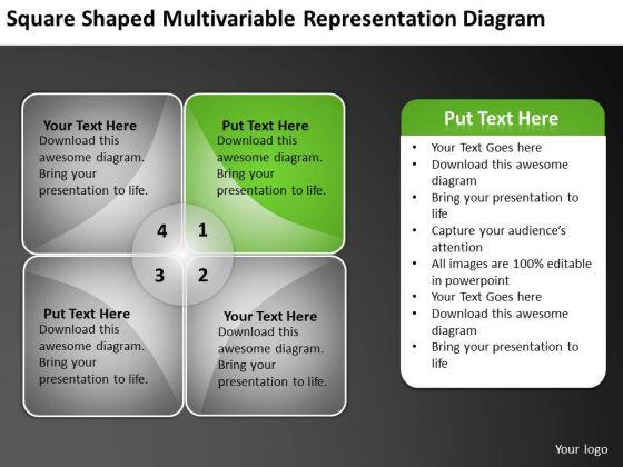Multivariable Representation Diagram Ppt Write Business Plan Template Free PowerPoint Slides