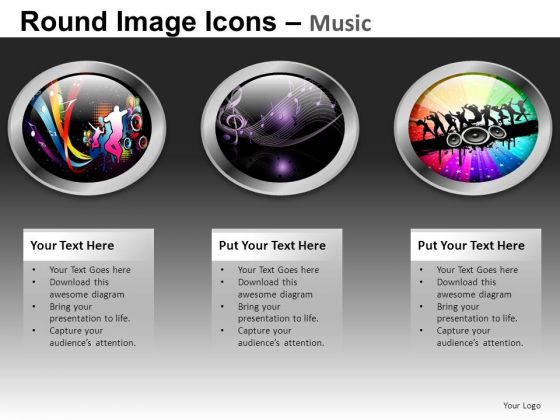 Music Icons For PowerPoint Presentation Slides