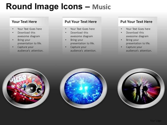 Music Icons PowerPoint Presentation Editable Slides Download