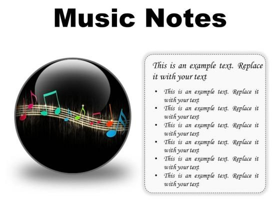 Music Notes Abstract PowerPoint Presentation Slides C