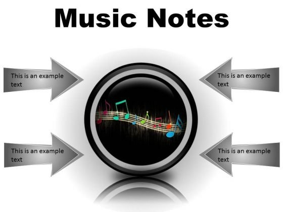 Music Notes Abstract PowerPoint Presentation Slides Cc