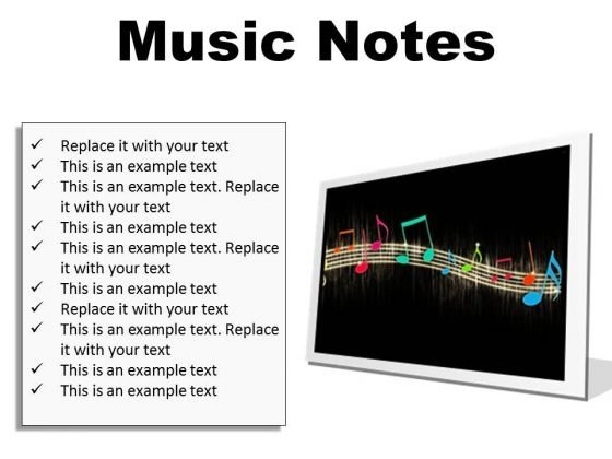Music Notes Abstract PowerPoint Presentation Slides F