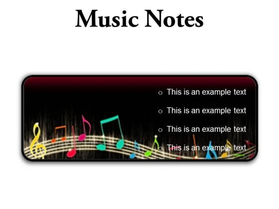 Music Notes Abstract PowerPoint Presentation Slides R