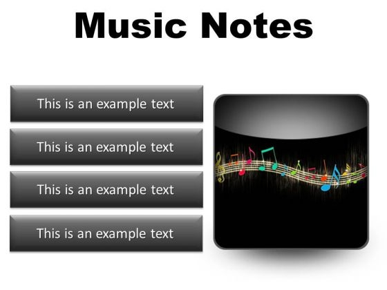 Music Notes Abstract PowerPoint Presentation Slides S