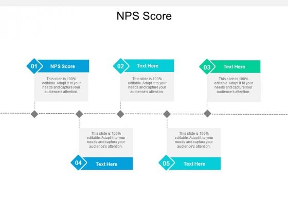NPS Score Ppt PowerPoint Presentation Outline Information Cpb