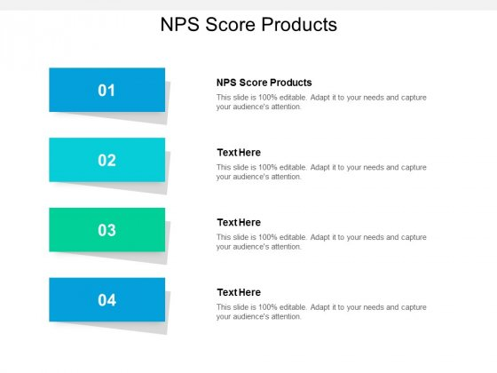 NPS Score Products Ppt PowerPoint Presentation Pictures Example Topics Cpb